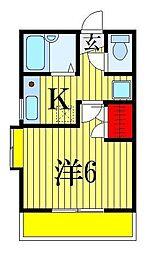 千葉県船橋市海神6丁目の賃貸アパートの間取り