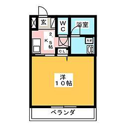丸中マンション新居[3階]の間取り