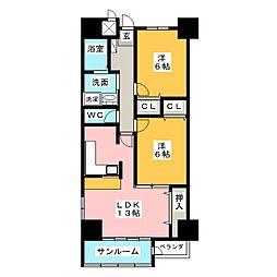 REARU HIMURO[5階]の間取り