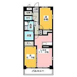 エアリーハウス[2階]の間取り