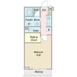 ロンドプラット[2階]の間取り