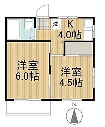コートボナール[2階]の間取り