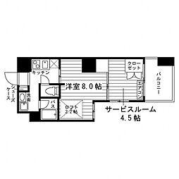ARTIS仙台木町通 1階2Rの間取り