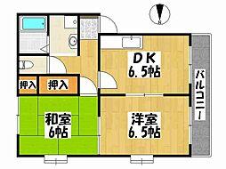 兵庫県神戸市垂水区朝谷町の賃貸アパートの間取り