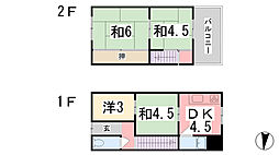 [一戸建] 兵庫県姫路市南畝町2丁目 の賃貸【兵庫県 / 姫路市】の間取り