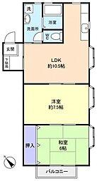 コンフォーツA棟[2階]の間取り