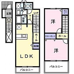 ラフレシール[2階]の間取り