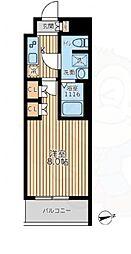 京王線 八幡山駅 徒歩10分の賃貸マンション 5階1Kの間取り