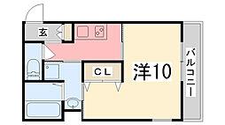 ヴィラナリー加古川[2階]の間取り
