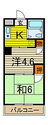 戸田宝マンション[3階]の間取り