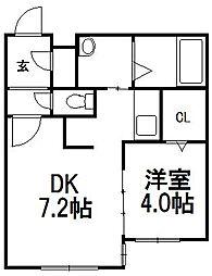 北海道札幌市豊平区月寒中央通3丁目の賃貸マンションの間取り