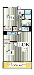 チャームテラス222E[3階]の間取り