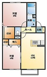 シェトワボヌール A棟[1階]の間取り