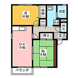ロイヤルビレッジYsI[2階]の間取り