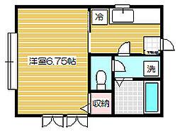クレセントピュア[2階]の間取り