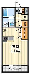 神奈川県大和市中央6丁目の賃貸アパートの間取り