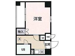 東京都府中市片町2丁目の賃貸マンションの間取り