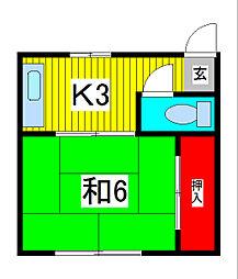 和風荘[2階]の間取り