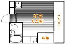 東京都豊島区巣鴨3丁目の賃貸アパートの間取り