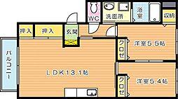 ディアス古屋敷 I[2階]の間取り