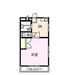 徳島県徳島市住吉2丁目の賃貸マンションの間取り