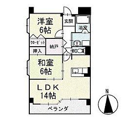 グランド・ステージ桜華 1階[106号室]の間取り