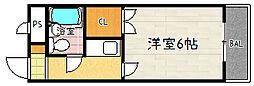 コーポ朝倉[207号室]の間取り
