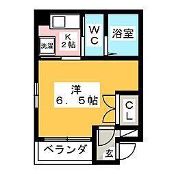 K&S高宮[7階]の間取り