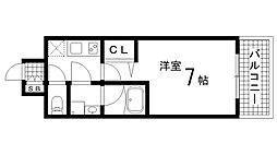 兵庫県神戸市中央区東雲通4丁目の賃貸マンションの間取り