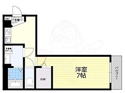アレグリア姫島 1階1Kの間取り