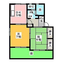 マ・メゾン 弐番館[1階]の間取り