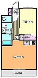 ラガー・ディア[1階]の間取り