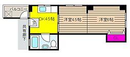 兵庫県神戸市東灘区御影山手5丁目の賃貸マンションの間取り