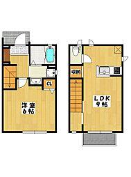[タウンハウス] 千葉県市川市新田3丁目 の賃貸【/】の間取り