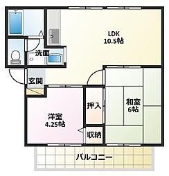 サンシティ細田[2階]の間取り
