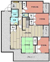 サンライフ永犬丸 702号室[7階]の間取り