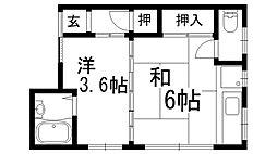 澤田ハイツ[2階]の間取り