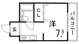 ルーチェ北野坂[2階]の間取り