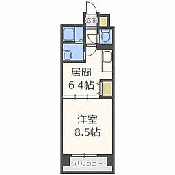 FLAT-A[6階]の間取り