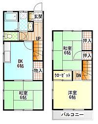 [テラスハウス] 神奈川県小田原市南鴨宮3丁目 の賃貸【/】の間取り