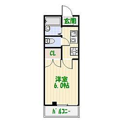 エクセレントハイム中川[0102号室]の間取り