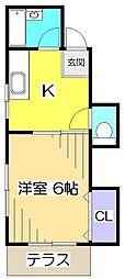 第7末廣コーポ[1階]の間取り