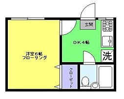 東京都新宿区信濃町の賃貸アパートの間取り