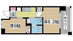 兵庫県神戸市兵庫区西宮内町の賃貸マンションの間取り