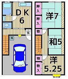 [テラスハウス] 東京都足立区関原2丁目 の賃貸【/】の間取り
