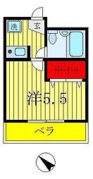 プランドール古ヶ崎[2階]の間取り