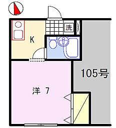コーポ西中島[1階]の間取り