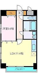 仙台市営南北線 勾当台公園駅 徒歩3分の賃貸マンション 7階1LDKの間取り