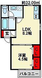 エトワール苅田[2階]の間取り
