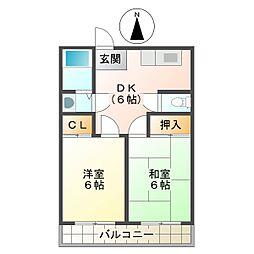 コーポ東野[2階]の間取り